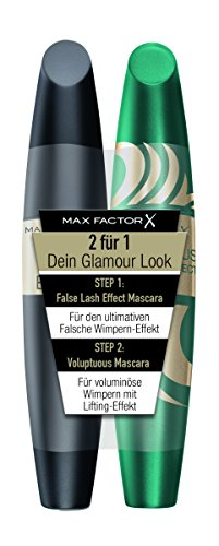 Max Factor Mascara Set, False Lash Effect black plus Voluptuous False Lash Effect black, 2er Pack (2 x 7 g)