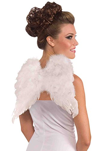 Forum Novelties Women's Adult Club Angel Feather Wings Costume Accessory, White, One Size (Angel Costume For Women)