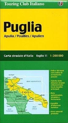 Puglia Apulia/Pouilles/Apulien: 1:200000 (Carte Regionali)