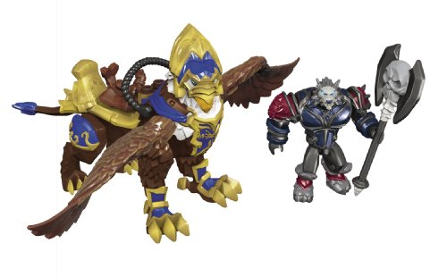 Mega-Bloks-World-of-Warcraft-Swift-Gryphon-and-Graven-Alliance-Wargen-Death-Knight