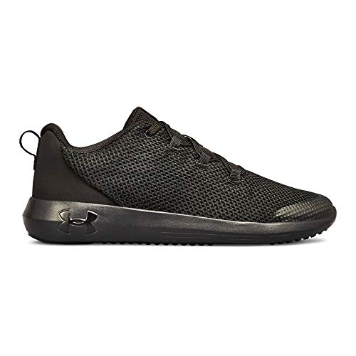 Under Armour Boys' Grade School Ripple Sneaker, (002)/Black, 7 (Footwear Black Youth)