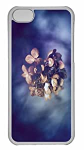 Customized iphone 5C PC Transparent Case - Whithered Flower Close Up Personalized Cover by mcsharks