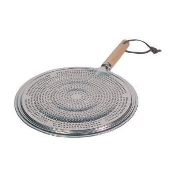 Flame Tamer SIMMER Ring Aluminum HEAT Diffuser DISTRIBUTER gas stove top stovetop with Wood Handle