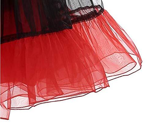 AK Beauty Women 1950s Petticoat Skirts Tutu Crinoline Underskirt Slips Underskirt