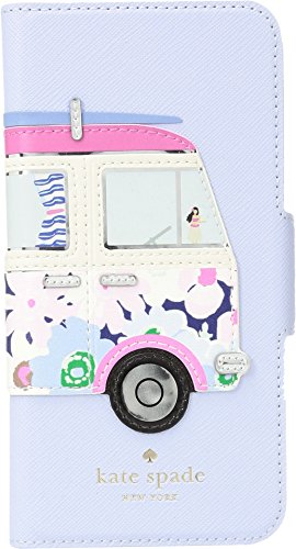 - Kate Spade New York Women's Surf Van Applique Folio Phone Case for iPhone 8 Blue Multi One Size