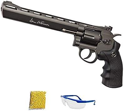 Dan Wesson 8″ Revolver Gris - Revolver de Airsoft Calibre 6mm (Arma Corta de Aire Suave de Bolas de plástico o PVC). Sistema: CO2, 2,70 Julios.