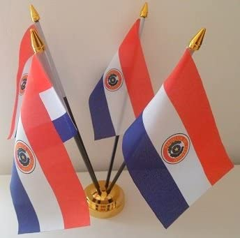 Paraguay 4 paraguayo de la bandera de mesa con pantalla de ...