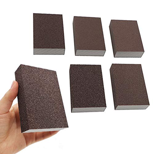 60//80//100//120//180//220 Grits 6 Different Specifications Washable and Reusable Onarway Sanding Sponges 6 Pack Wet and Dry Dual-use Ideal for Wood Metal Wall Polishing Coarse and Fine Sanding Blocks