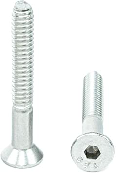 10-24 x 1//2 Size Flat Head Socket Cap Screws Metric Hardware Fastener Kit Allen Drive Stainless Steel Set of 100