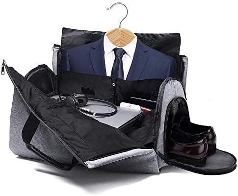 7e21c1900d6c0 Suit Bag with Shoe Compartment, Fresion 2 in 1 Garment Bag/Suit Carrier Bag/ Suit Cover Bag/Travel Bags/Duffle Bag/Overnight Bag/Weekend Bag/Flight ...
