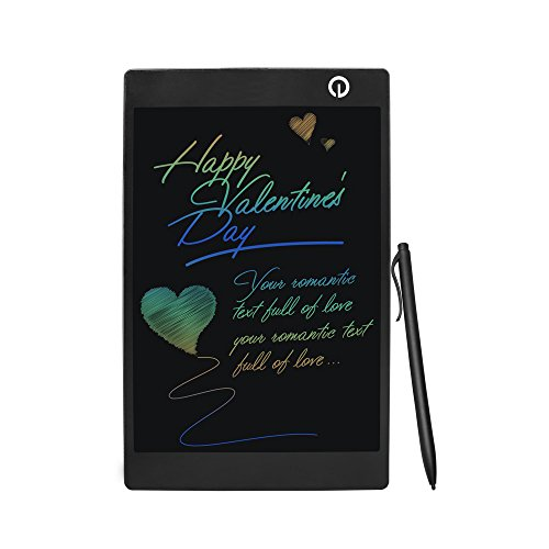 LCD Writing Drawing Tablet - 9.7 Inch Handwriting Drawing Sketching Graffiti Scribble Doodle Board eWriter,Great Gift for Kids (9.7 inch colorful)