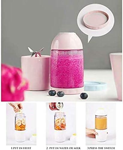 MISLD Fruits Juicer pour Mini Presse-Agrumes Protable Smoothie Voyage Blender Jus Rechargeable, Bleu, Royaume-uni 220 v,Bleu,Royaume-uni 220 v