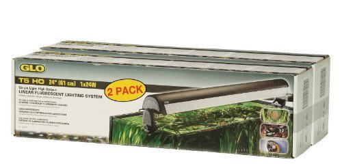 Glo T5 Linear Fluorescent Bulb Aquarium Light Fixtures, 24-Inch