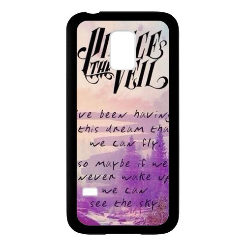 Customize Beautiful Pierce The Veil Unique Pattern Protective Laser Rubber Cover Case for SamSung Galaxy S5 Mini ()