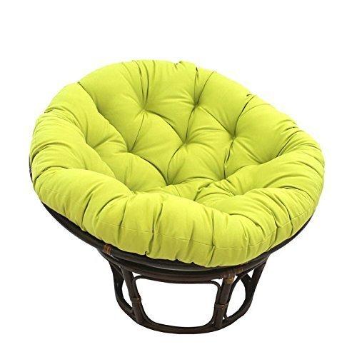International Caravan 3312-TW-ML-IC Furniture Piece 42-inch Rattan Papasan Chair with Solid Twill Cushion by International Caravan