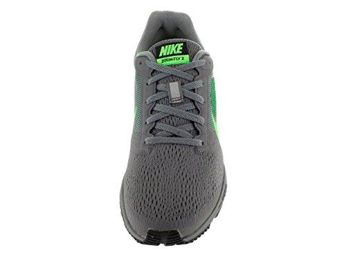 Nike Womens Air Zoom Fly To Løpesko Kul Grå / Vltg Grønn / Lcd Grn