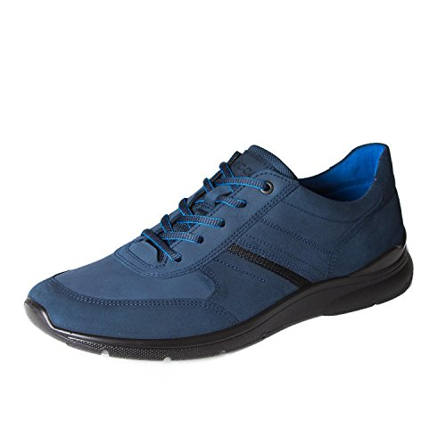 - ECCO Mens Irving Oxford Shoes Marine (Blue Suede) Size 11-11.5/US