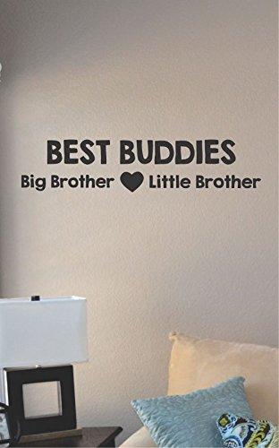 (Best Buddies Big Brother Little Brother Vinyl Wall Art Decal Sticker)