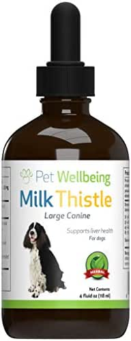 Pet Wellbeing - Milk Thistle for Dogs - Essential Detoxification Support for Canines with Liver Dysfunction (4 oz)