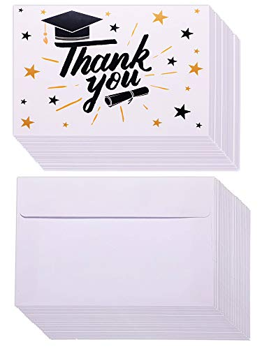 Norme 36 Sets Graduation Thank You Cards Graduation Cap Greeting Cards Thank You Card with Envelopes for Graduates Teachers Thanks]()