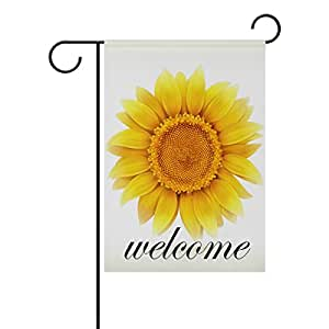 bennigiry girasol decorativo Welcome Colorful Mulitcolor, diseño bandera de Jardín, multicolor, 12x18(in)