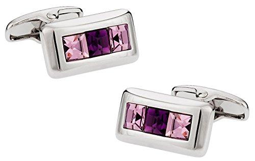 Cuff-Daddy Crystal Cufflinks in Purple