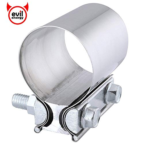 "EVIL ENERGY 3.0"" Butt Joint band clamp Exhaust Sleeve Stainless Steel"