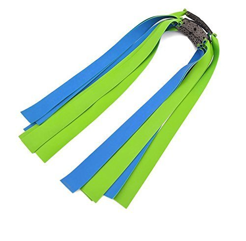 3pcs Powerful Pro Slingshot Rubber Flat Bands Replacement 0.8mm Thickness Green & Blue Two Side Colour Hunting Catapult Elastic Bungee obert