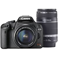Canon EOS Kiss X3 IS Camera with EF-S18-55mm F3.5-5.6 IS + EF-S55-250mm F4-5.6 IS - International Version (No Warranty)
