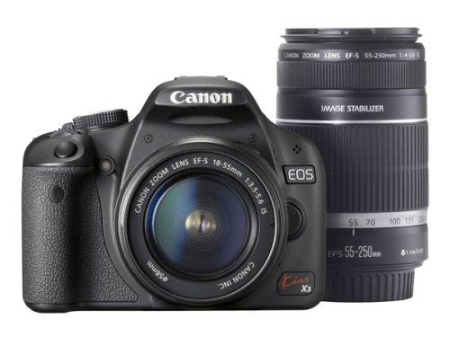 キヤノン イオスキス X3 ブラック ダブルズームキット EFS1855mm F3.55.6 ISEFS55250mm F45.6 ISの商品画像