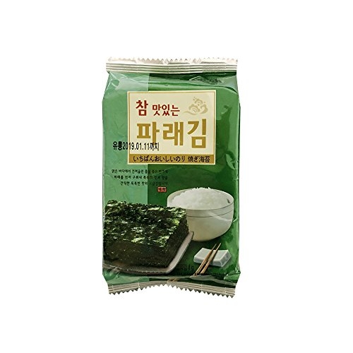Korean Premium Roasted and Lightly Sea Salted Seasoned Seaweed & Nori Individual Snack 5g (Pack of 10) by All About Living (Image #1)