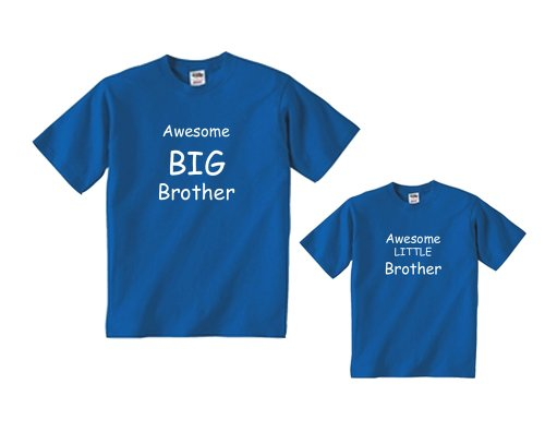 Awesome Little Brother Royal Blue Shirt - Baby 24 mth, S/S (559)