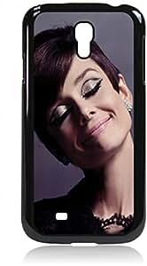 Audrey Hepburn-Glitter Eyelids - Hard Black Plastic Snap - On Case --Samsung? GALAXY S3 I9300 - Samsung Galaxy S III - Great Quality!