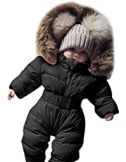 Newborn Infant Baby Boy Girl Winter Snowsuits Coat Clothes Outfits 3-24 Months Hooded Warm Thick Romper Jumpsuit