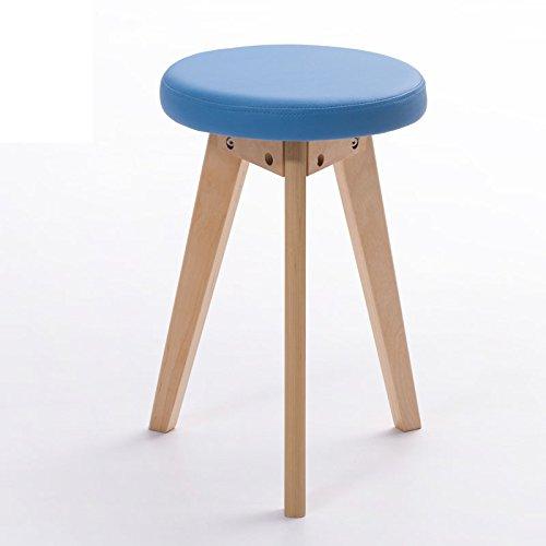 龙飞@ ファッション小さなベンチ/創造的なスツール/シンプルなスツール/ソリッドウッドのスツールの家/ダイニングテーブルスツール スツール ( 色 : 青 , 三 : B ) B0784FFQSB 青 B 青