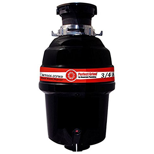 Mountain Plumbing MT666-2CFWD Perfect Grind Waste Disposer Continuous Feed, 3/4 HP ()