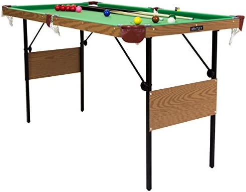 Charles Bentley Mesa Billar/Snooker Verde 137CM Y Bolas DE Billar Y Snooker Amarillas Interiores: Amazon.es: Deportes y aire libre