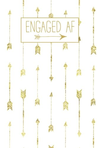 (Engaged AF: White Gold Dots Blank Journal, Wedding Planner Notebook, 110 Lined Pages, 5.25 x 8, Stylish Journal for Bride, Family, Ideal for Notes & ... Shower, Bridal Party, Wife, Husband Gifts)