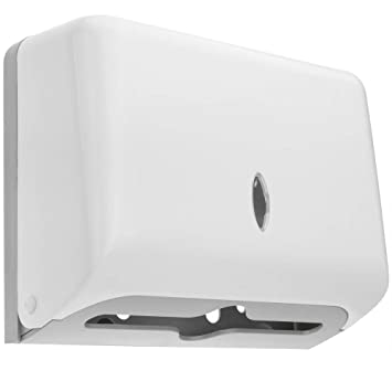 PrimeMatik - Dispensador de Toallas de Papel para baño en Blanco: Amazon.es: Electrónica