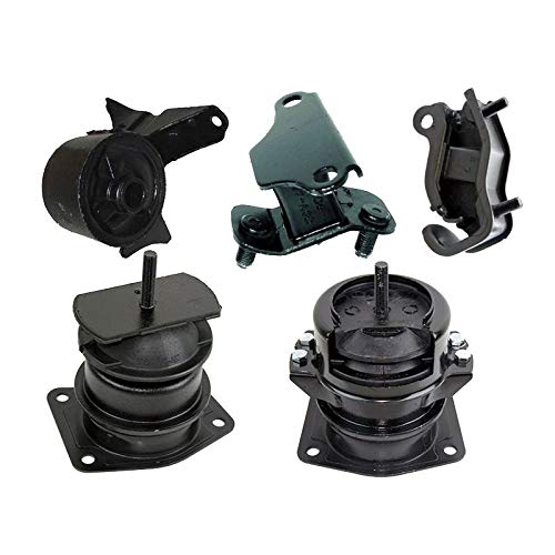 - K0437 Fits 2000-2003 Acura TL 3.2L Engine Motor & Transmission Mount Set 5 PCS : A4519HY, A6552, A4507HY, A6582, A6579