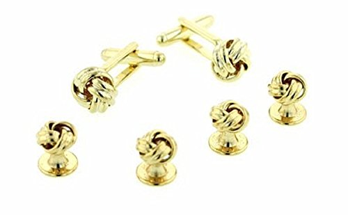 JJ Weston Love Knot Tuxedo Cufflinks and Shirt Studs. Made in the USA. by JJ Weston
