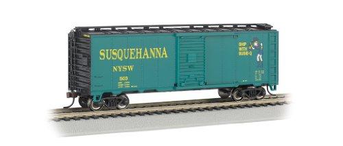 Bachmann Ho 40' Stock Car (Bachmann Industries HO Scale 40' Box Car New York, Susquehanna and Western (Suzy Q))