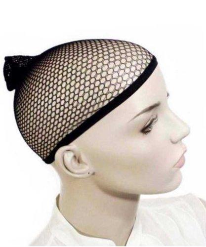 Black Hair Wig Weaving Stretchable Net Mesh Fishnet Elastic Snood Cap sporting -5pcs