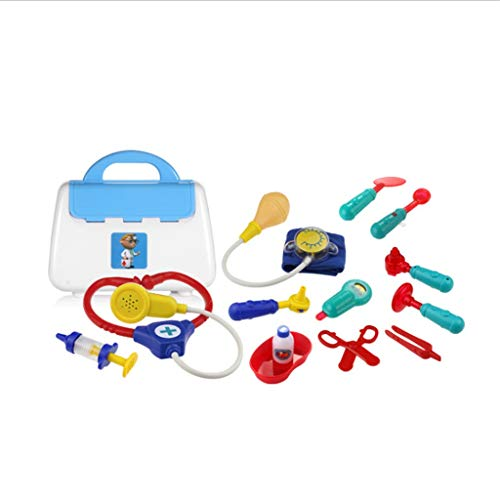 Ciyoon 2019 Colorful Doctor Kits Pretend Play, Doctor and Nurse Set Role Play Toy with Handy Carrying Case for Boys and Girls, Kids and Toddlers Over 3 Years Old