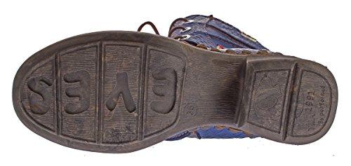 Gefüttert 42 Blau Comfort Winter Animal 36 Stiefel Boots Gr 5199 Leder Print Damen TMA Echt Schuhe 0YnZHZ6x