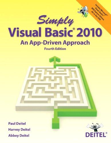 Simply Visual Basic 2010 (4th Edition) Pdf
