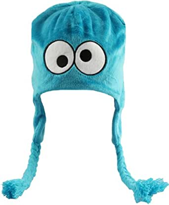 Sesame Street Cookie Monster Pilot Hat with Ear Flaps