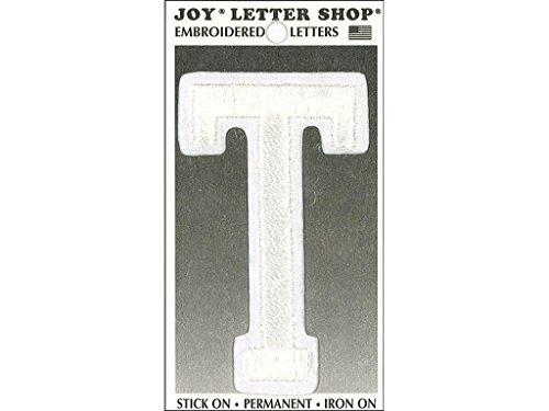 Joy JOY36020 Applique Letter Iron On Varsity White T, 3