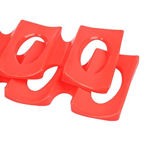 Rouge, Paquet de 2 Pi/éces Range Canette et Support Bouteille Easy Gerbeur Bac pour Refrigerateur Tapis Rangement Frigo Organisateur en Silicone Tapis pour Ranger Bouteille Frigo Organisation.