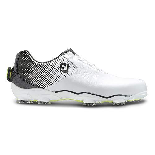 (FootJoy Men's D.N.A. Helix Boa-Previous Season Style Golf Shoes White 12 M Black, US)